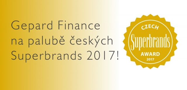 Czech Superbrands 2017 pro Gepard Finance